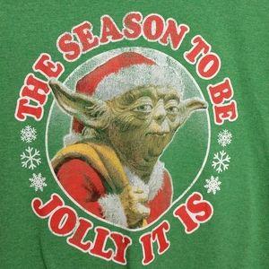 Star Wars Yoda Christmas Tee - Size L - GUC